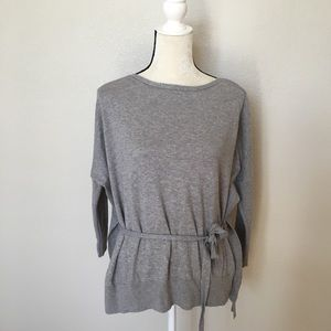 Lou & Grey Sweaters - Lou & Grey Belted Tie Front Sweater